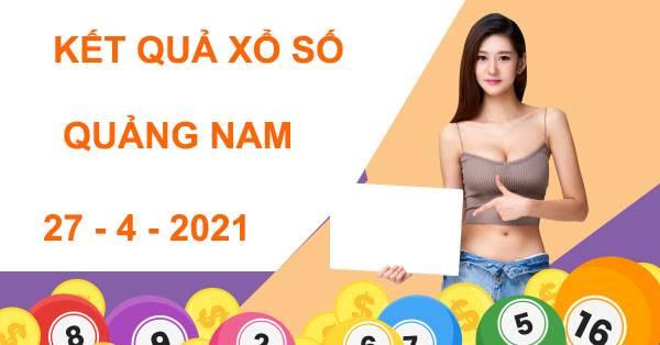 Thống kê xổ số Quảng Nam thứ 3 ngày 27/4/2021