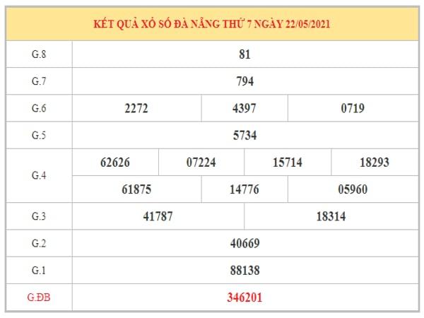 Thống kê KQXSDNG ngày 26/5/2021 dựa trên kết quả kì trước