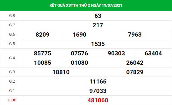 Thống kê soi cầu xổ số Thừa Thiên Huế ngày 26/7/2021 hôm nay