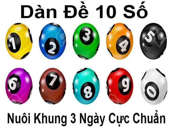 Dàn đề 10 số khung 3 ngày - Soi dàn đề 10 số nuôi khung 3 ngày