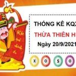 Thống kê xổ số Thừa Thiên Huế ngày 20/9/2021 hôm nay thứ 2